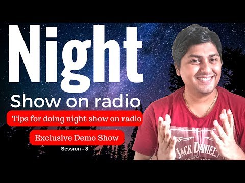 Radio Jockey training hindi - Radio Night Show presentation style - Session 8