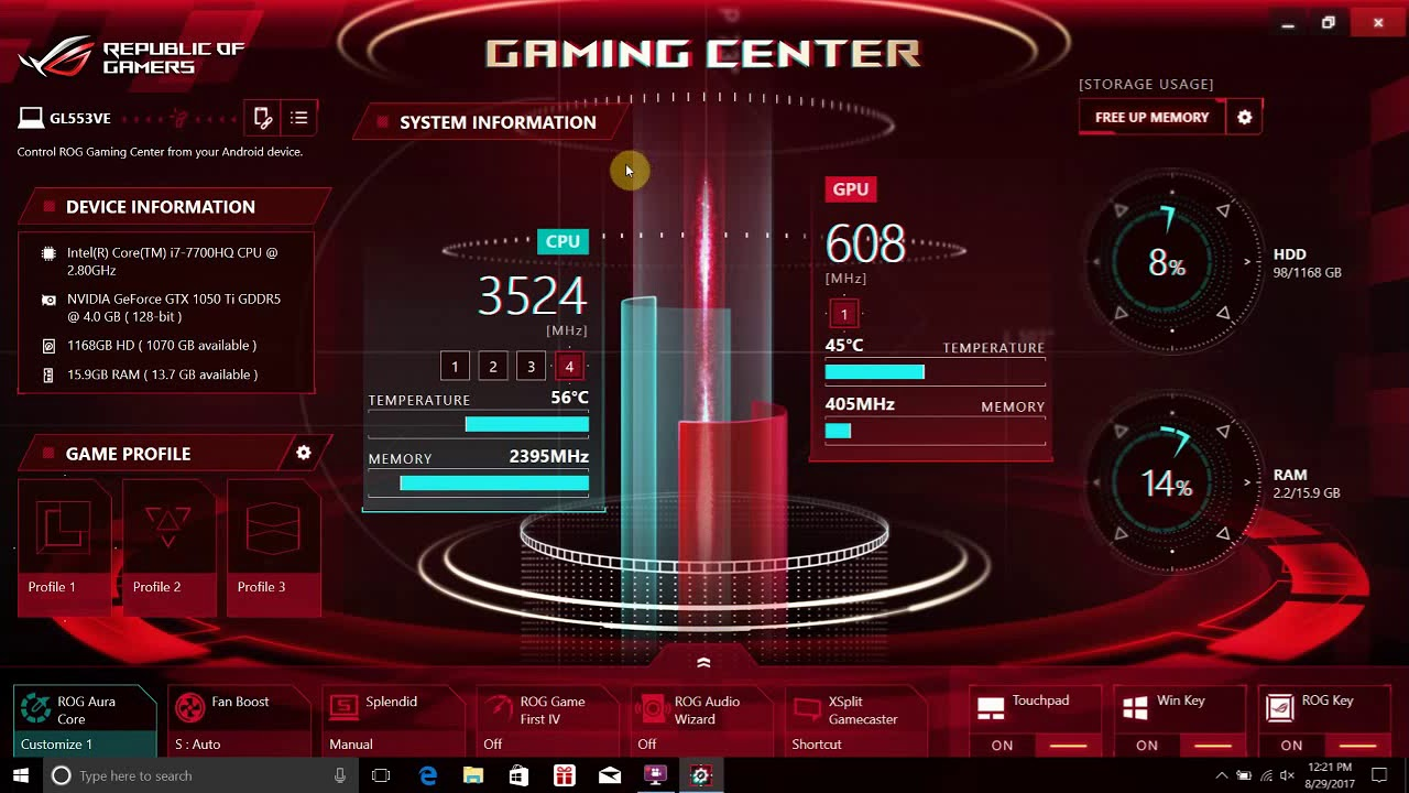 Notebook][Video] - ROG Gaming center walk through | Official
