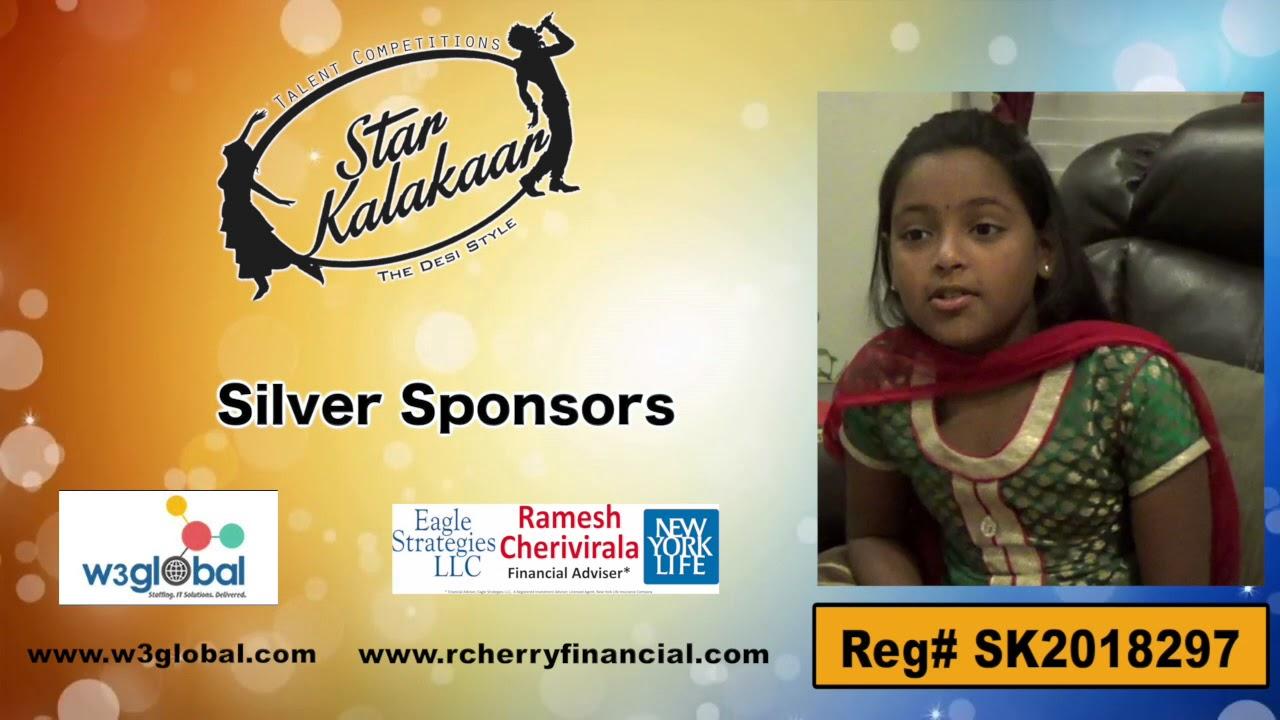Participant Reg# SK2018-297 Introduction - US Star Kalakaar 2018 || DesiplazaTV