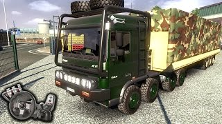 Euro Truck Simulator 2 - DAF Crawler and High Lift - Exército - Com Logitech G27 - RaaVaz