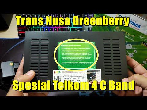 Receiver Transvision GreenBerry Nusantara HD C Band Telkom 4
