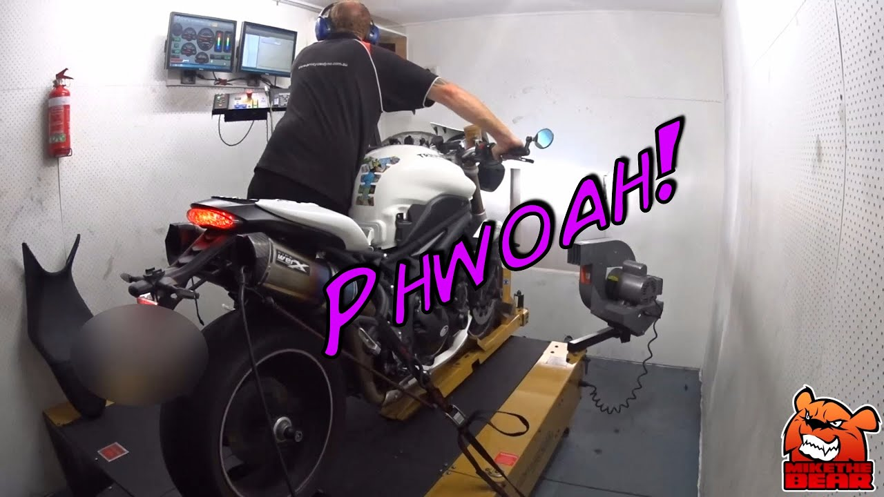 Triumph Speed Triple 1050 Dyno Run And Results Youtube