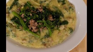 Polenta With Broccoli Rabe And Sausage - Italian Recipes By Rossella Rago - Cooking With Nonna