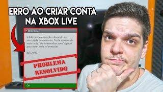 XBOX 360 RESOLVENDO ERRO CRITICO DE CRIAR CONTA NA XBOX LIVE 😥😥😥