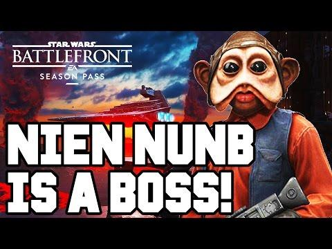 NIEN NUNB IS A BOSS!! Star Wars Battlefront DLC Gameplay - Outer Rim / DLC Heroes (Season Pass PS4)