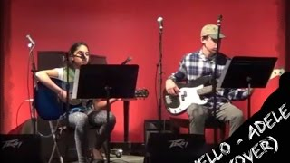 Hello ~ Adele Live Cover by Sayli Keni ft. Ben playing the bass guitar at Crossroads Mall