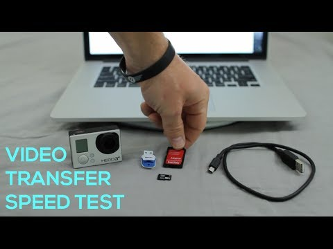 Video Transfer Speed Test - USB Cable, USB adapter & MicroSD Adapter Reader - GoPro Tip #311