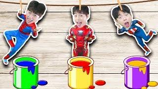 슈퍼히어로 마슈!!! 아이언맨 배트맨 색깔 맞추기 놀이 Wrong Superheroes Learn colors 마슈토이 Mashu ToysReview