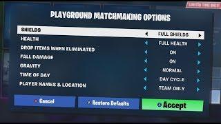 NEW Fortnite PLAYGROUND Custom Options!