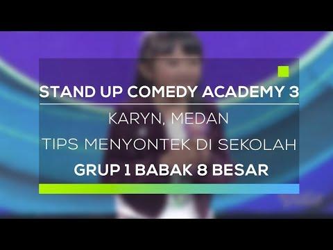 Stand Up Comedy Academy 3 : Karyn, Medan - Tips Menyontek Di Sekolah