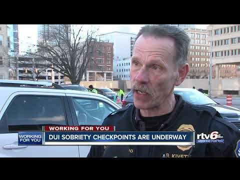 Authorities Hold DUI Checkpoint In Indianapolis