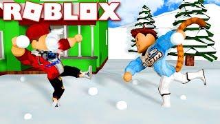 Roblox | THROWING SNOW Ball HEADSHOT DUDES VAMY-Snow Ball Fighting Simulator | KiA Pham