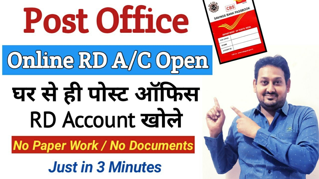 Online RD Account Opening in Post Office  Post office RD Account Online  Open