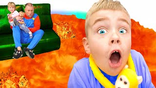 The Floor is Lava | Песенка для детей | Развивающие песенки для детей
