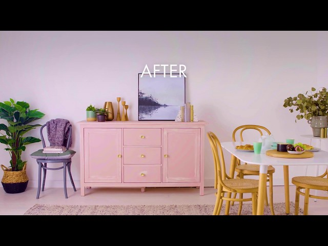 Dulux Design Chalk Effect Before and After