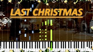 """[HOW TO PLAY] """"Last Christmas"""" PIANO TUTORIAL (Synthesia) SHEET MUSIC"""