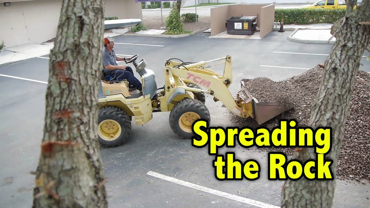 Landscape Supply Co >> Tan River Rock Installation in Orlando by Landscape Supply - YouTube