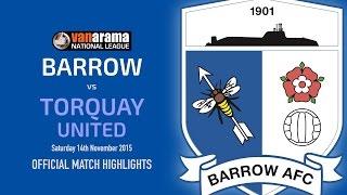 2015/16: BARROW v Torquay United