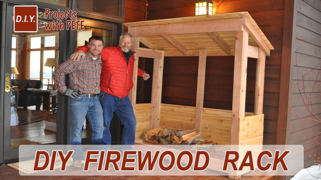 How to Build a FIREWOOD RACK - YouTube
