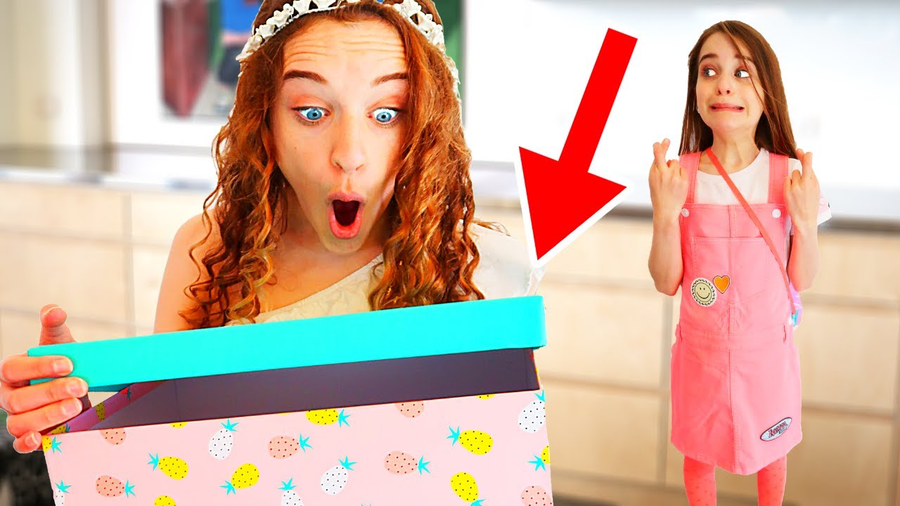 SABRE GOT AN AMAZING SURPRISE FOM NAZ in Mystery Box Clothes Challenge By The Norris Nuts