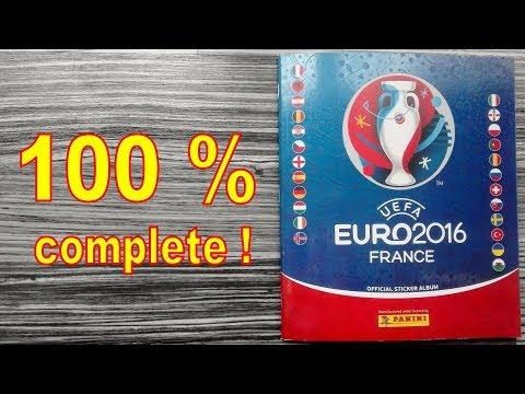"Panini Album ""UEFA Euro 2016 France"" - 100 % COMPLETE / FULL"