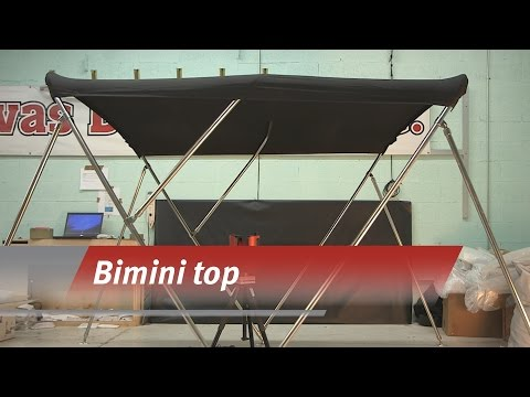Templating a bimini top