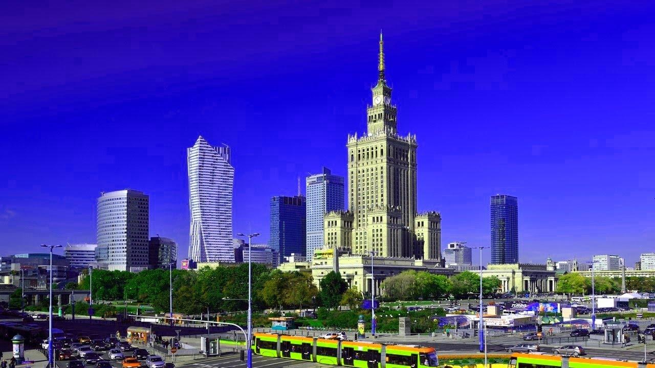 Польша Варшава обзор города. Warsaw Poland - YouTube