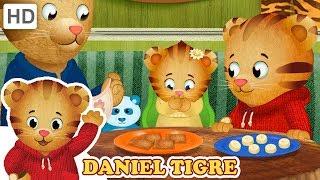 Daniel Tigre em Português 🍪 Lanches com minha Irmã | Vídeos para Crianças