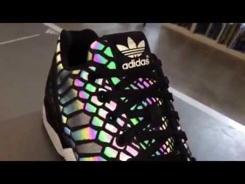 3e1f0b10d9c8d adidas Originals ZX Flux Xenopeltis Reflective - YouTube
