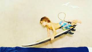 Boy Went On A Surfing Adventure At Home