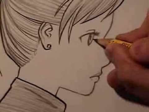 draw manga faces in profile