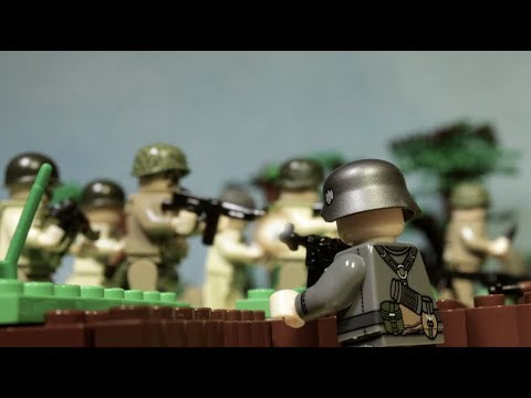 """видео: Лего фильм Братья по оружию: """"Нормандия 1944. День """"Д"""" Битва за поместье Брекур."""" Все серии вместе."""
