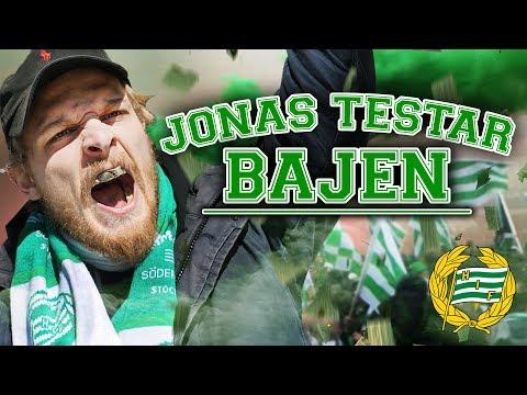 JONAS TESTAR BAJEN (Fotbollssupporter)