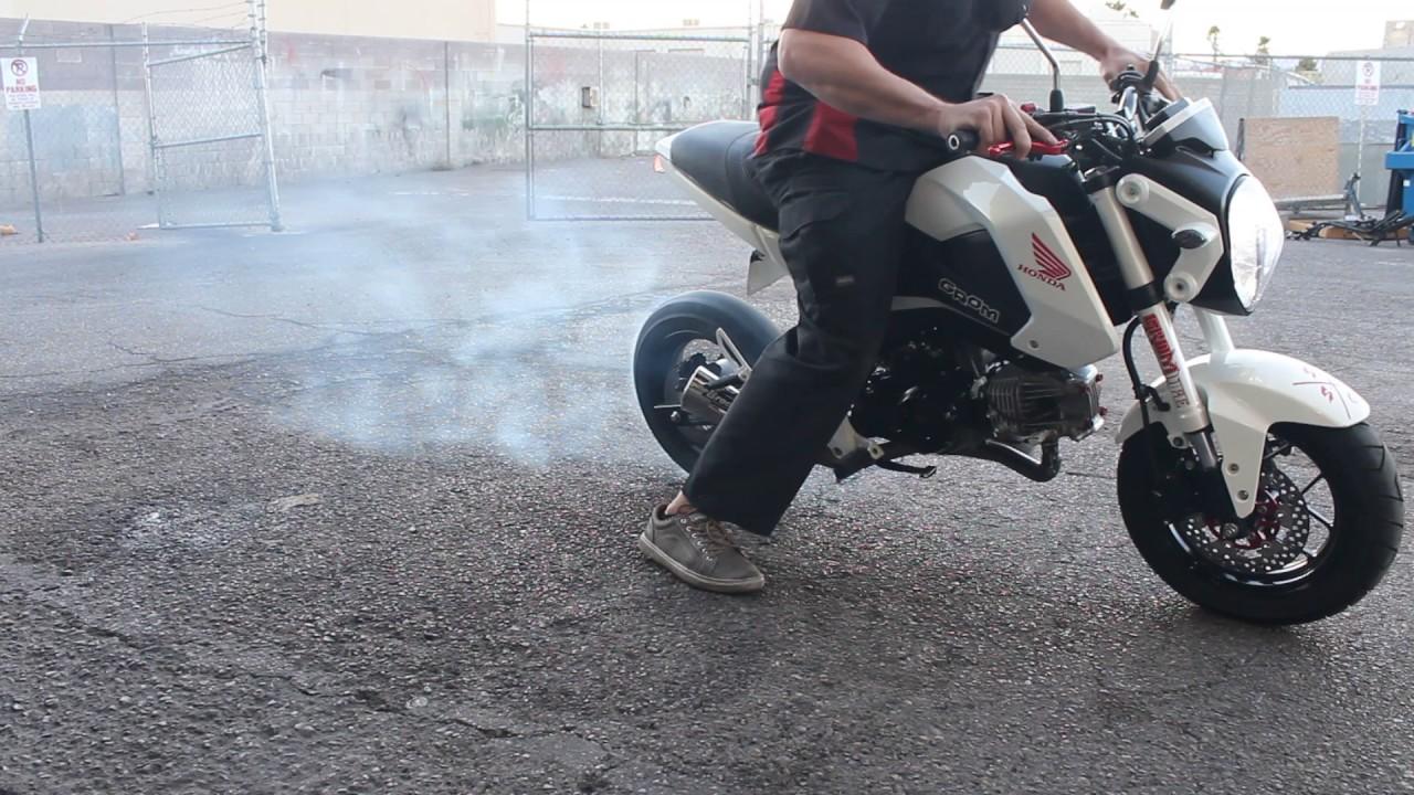 Honda Grom 4th gear burnout