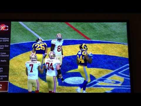 49ers Anquan Boldin body slamming the Rams
