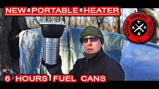 Great Survival Shelter Heater / 6 HOURS OF HEAT IN WINTER Video
