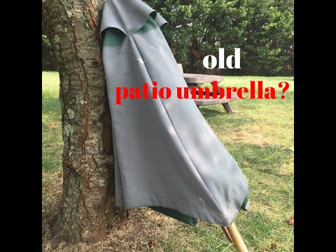 Painted Umbrella DIY - Easy Refresh for an Old, Faded Outdoor Umbrella!