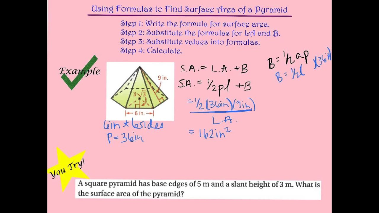 worksheet Surface Area Of Pyramids And Cones 11 3 surface areas of pyramids and cones youtube cones