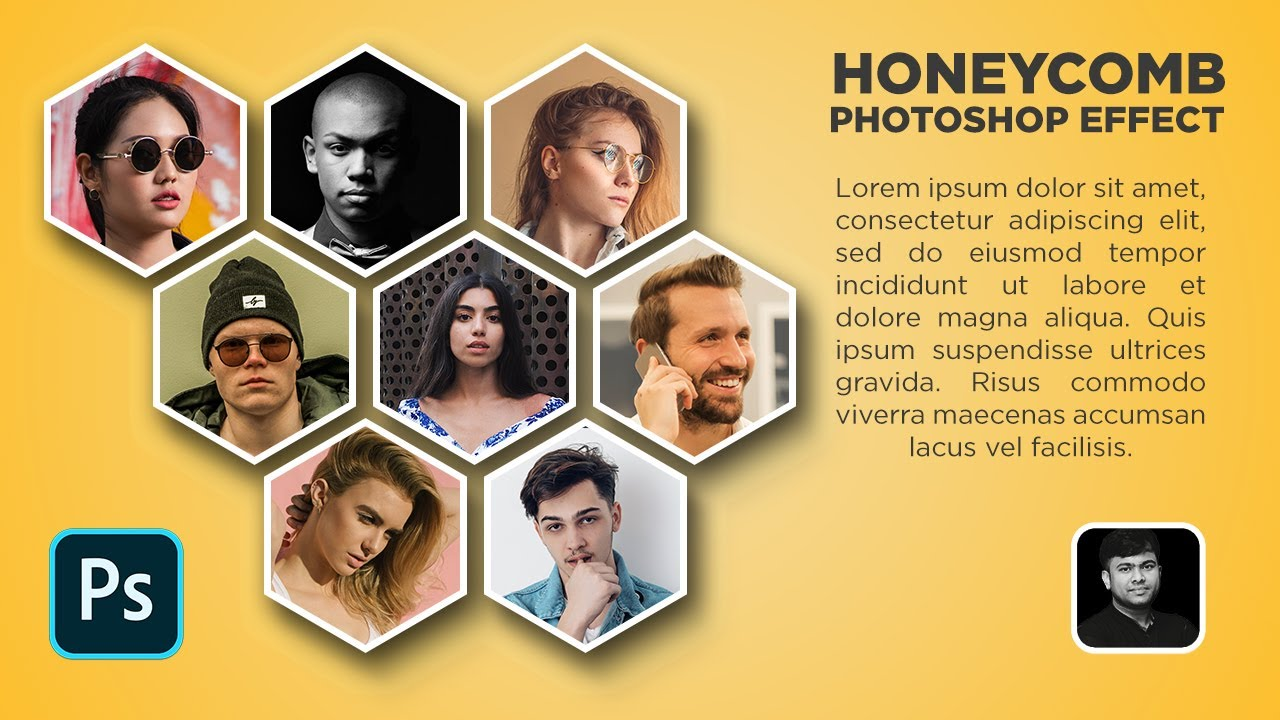 Honeycomb Collage Effect Tutorial