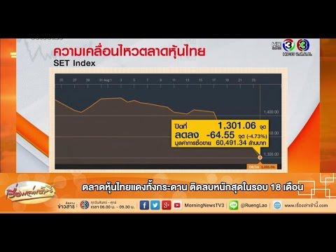 เรื่องเล่าเช้านี้ ตลาดหุ้นไทยแดงทั้งกระดาน ติดลบหนักสุดในรอบ 18 เดือน (25 ส.ค.58)