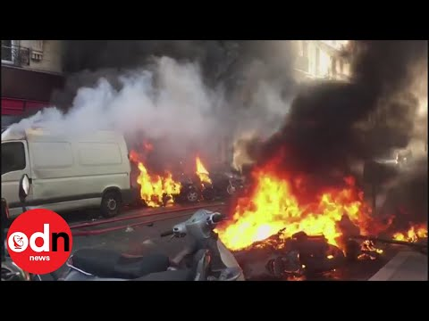 Paris in flames as yellow vests clash with police