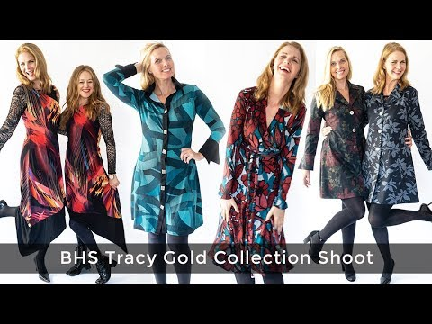 Fashionable clothing for women over 40 - BHS Tracy Gold Fall Collection Shoot