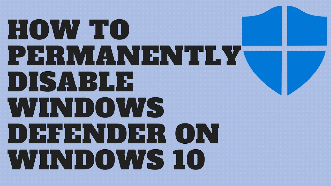 how do i turn off windows defender in windows 10 pro