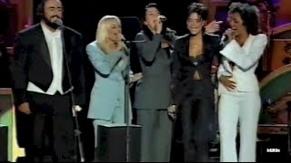 "Spice Girls and Luciano Pavarotti ""Viva Forever"" Live @ Pavarotti & Friends (1998)"