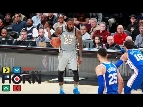 'There is no comparison' between James Harden's play and LeBron James' | Around the Horn | ESPN