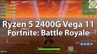 Ryzen 5 2400G Review Fortnite: Battle Royale. GPU@1500Mhz Gameplay Benchmark. Vega 11 iGPU