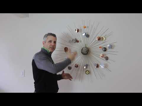 Moon Burst - Metal Sculpture Abstract Wall Hanging by Raymond Berger