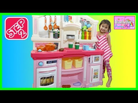 Cooking Food Toys Step 2 Kitchen Just Like Home Fun with Friends Kitchen Playset @DaeleneFP