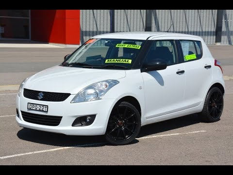 Suzuki Swift with Sports Pack at Newcastle Vehicle Exchange.  2012 model only travelled 29,000kms!