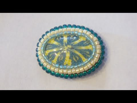 How to bezel a cabochon with beads using the Square Stitch technique | B...